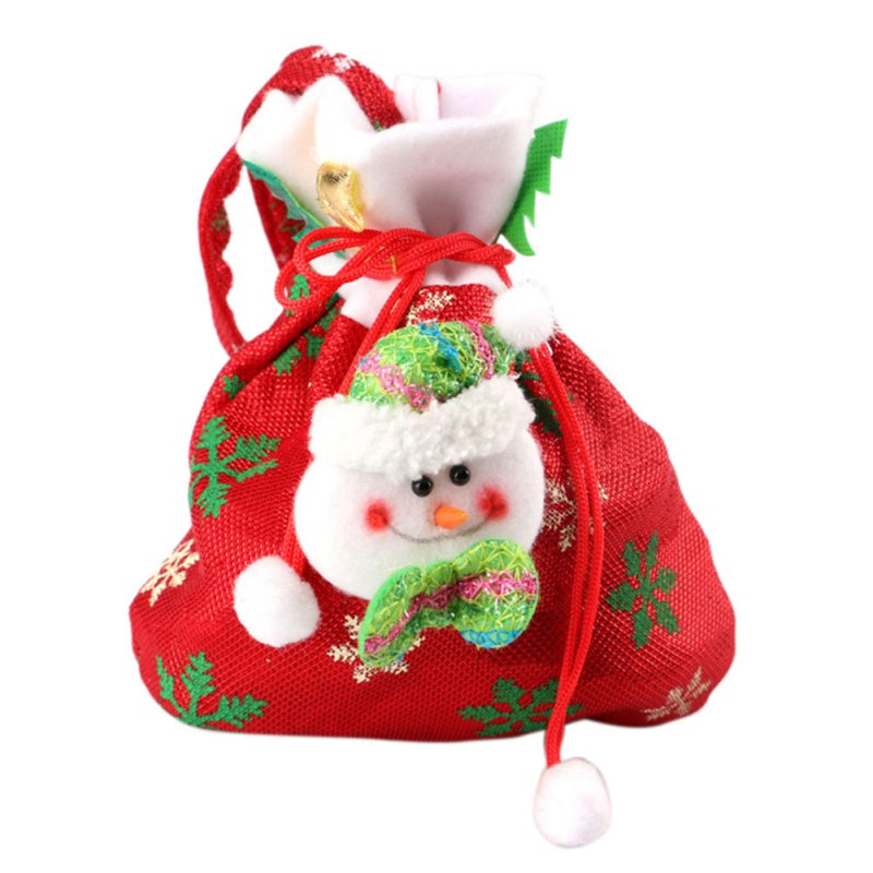 Christmas santa claus snowman kids candy bag gift bags