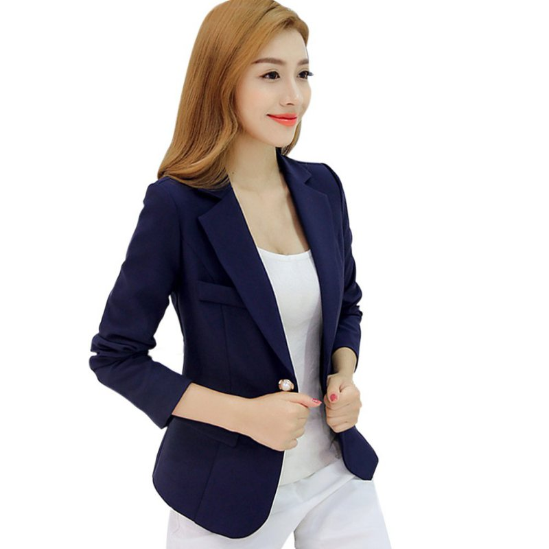 UK WOMENu0026#39;S LADIES SLIM BUSINESS BLAZER SUIT ONE BUTTON LADY JACKET COAT OUTWEAR | eBay