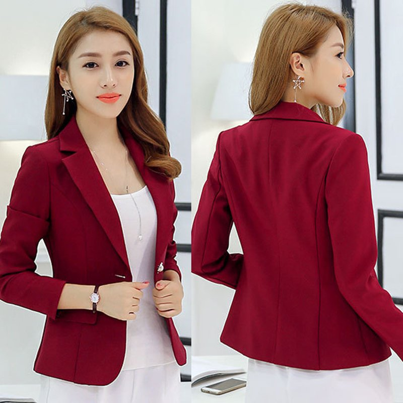 Women's one button blazer jacket