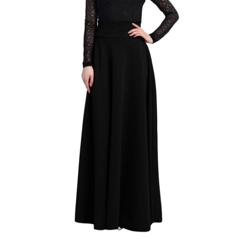 S-5XL-Plus-Women-Cotton-Long-High-Waist-Maxi-Skirt-Stretch-Skirts-Dress-Oversize