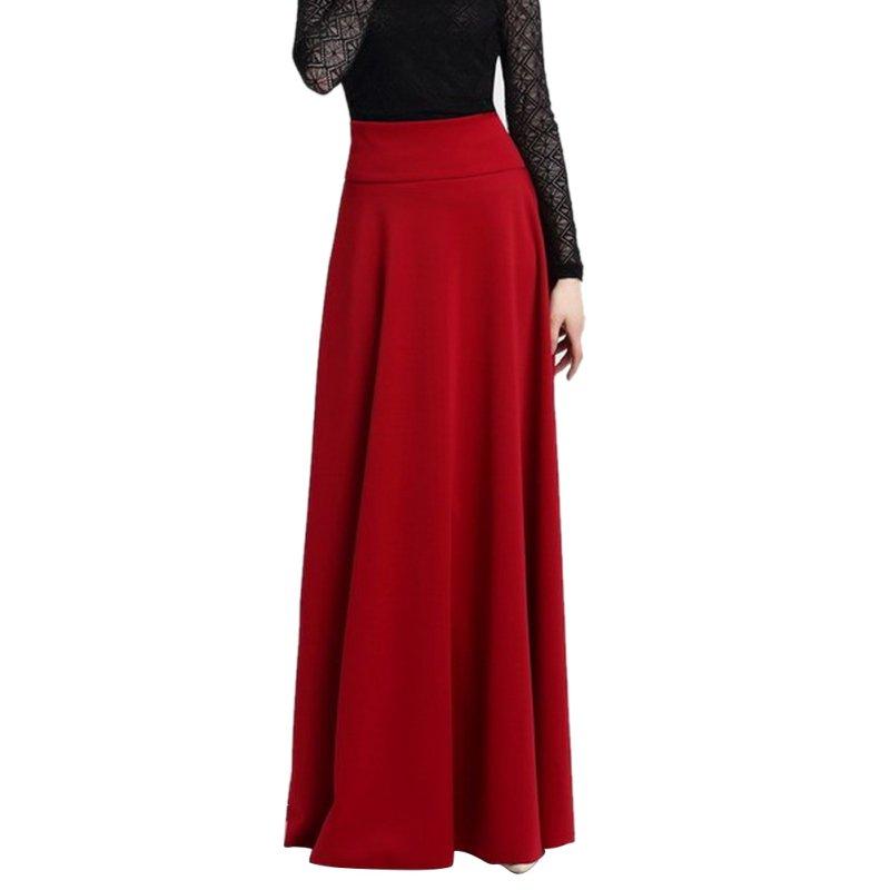 maxi skirts length stretch