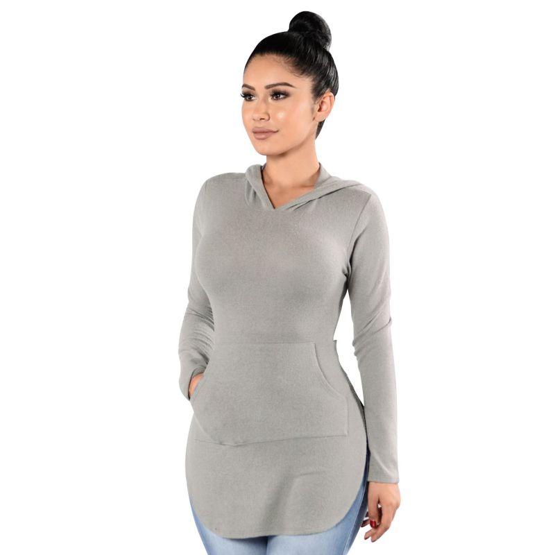 Fashion Women Casual Long Sleeve Hoodie Sweatshirt Pullover Tops Jumper Sweater