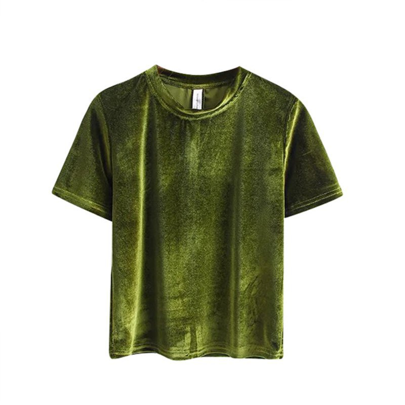 Womens sexy vintage short sleeve crew neck crop tops for Basic shirts for women