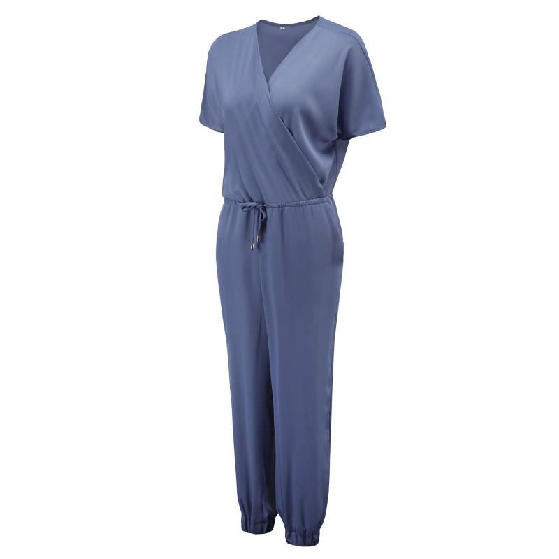 Women Fashion Summer Short Sleeve Chiffon Romper Pants Beach Trousers Casual | EBay