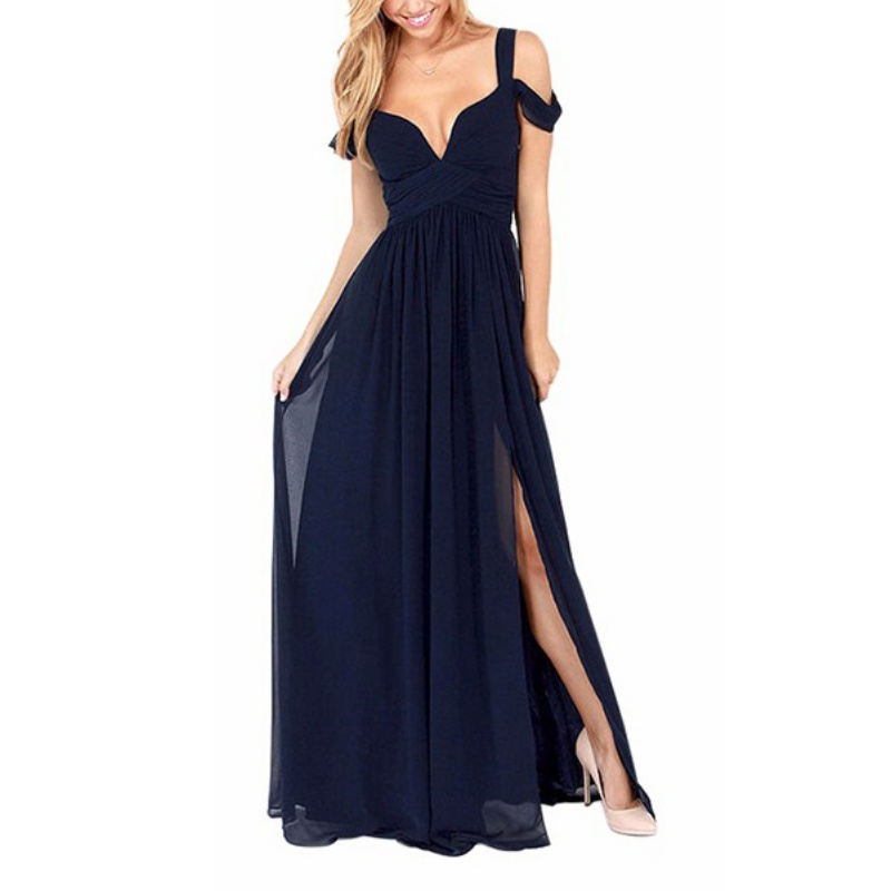 Womens Summer Evening Party Prom Wedding Dress Solid Beach ...