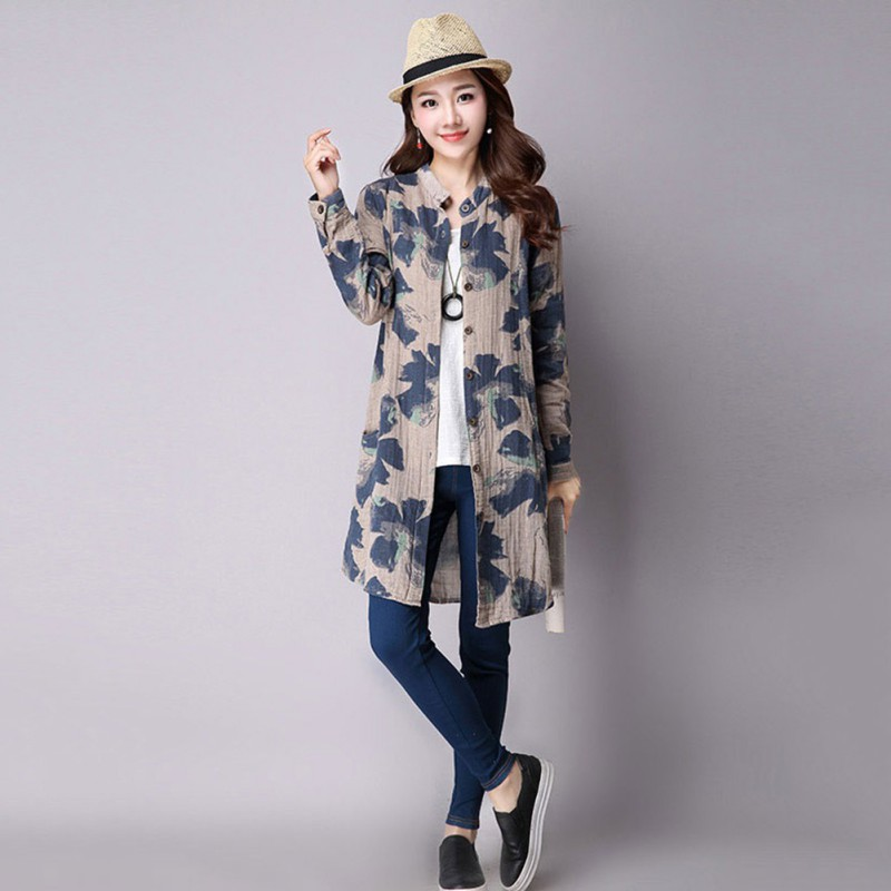 Vintage-Women-Boho-Floral-Loose-Shawl-Kimono-Cardigan-Tops-Jacket-Blouse-T-shirt