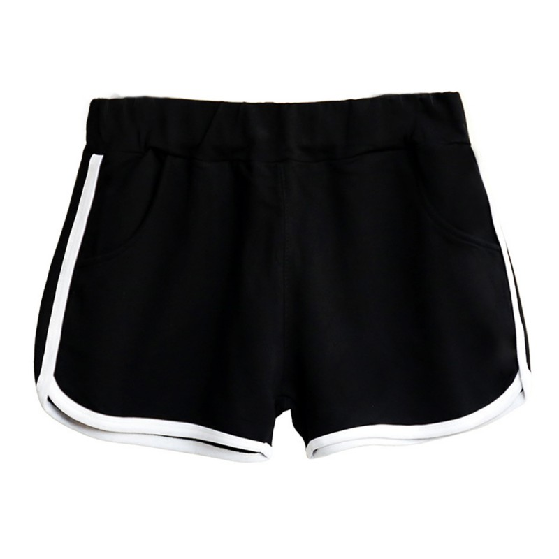 Women Elastic Sports Shorts Athletic Gym Workout Fitness