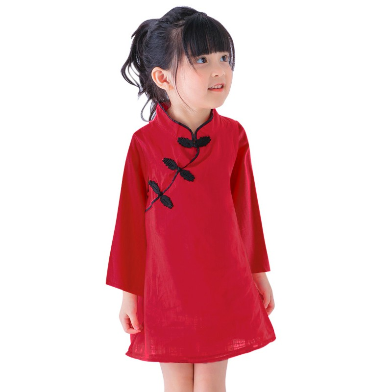 Chic Baby Kids Girl Classic Chinese Formal Dress Qipao Cheongsam