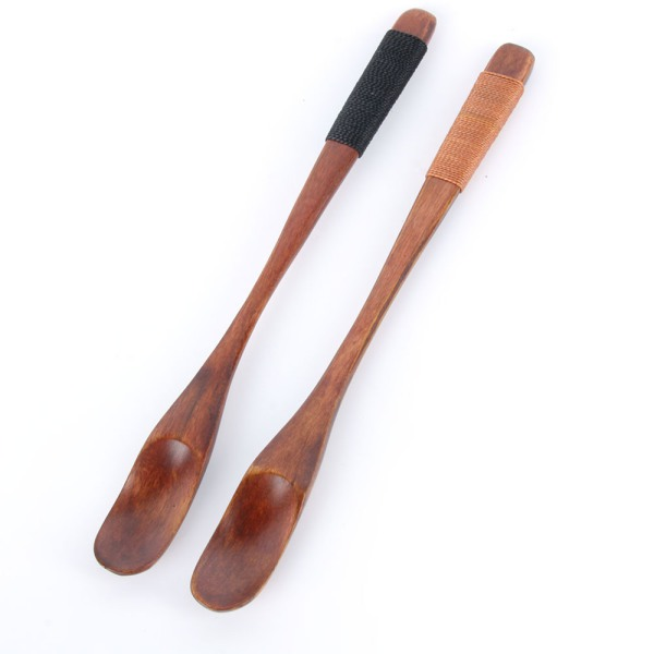 2 Piece Wooden Coffee Spoons Tea Spoons Small Spoon Hand