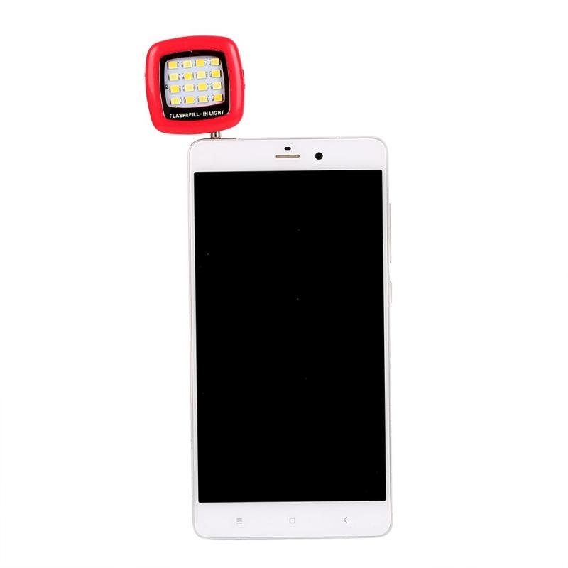 selfie flash light 16 led fill licht kamera fotografie f r iphone cell phone hot ebay. Black Bedroom Furniture Sets. Home Design Ideas