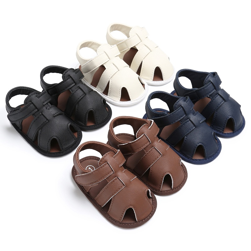 Kids-Soft-Soled-Leather-Casual-Shoes-Summer-Baby-Boy-Sandals-Prewalker-0-18M thumbnail 1