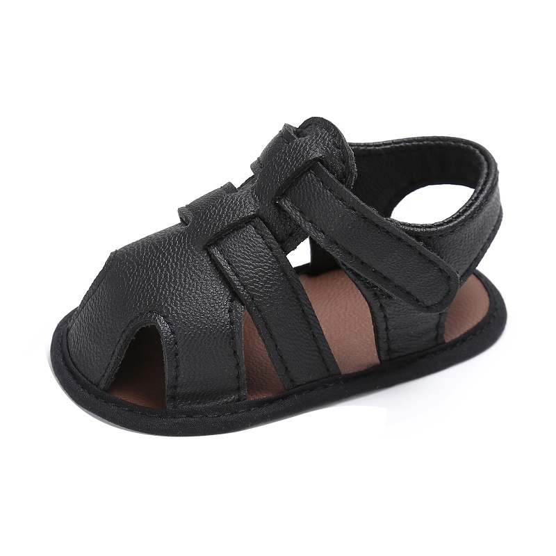 Kids-Soft-Soled-Leather-Casual-Shoes-Summer-Baby-Boy-Sandals-Prewalker-0-18M thumbnail 4
