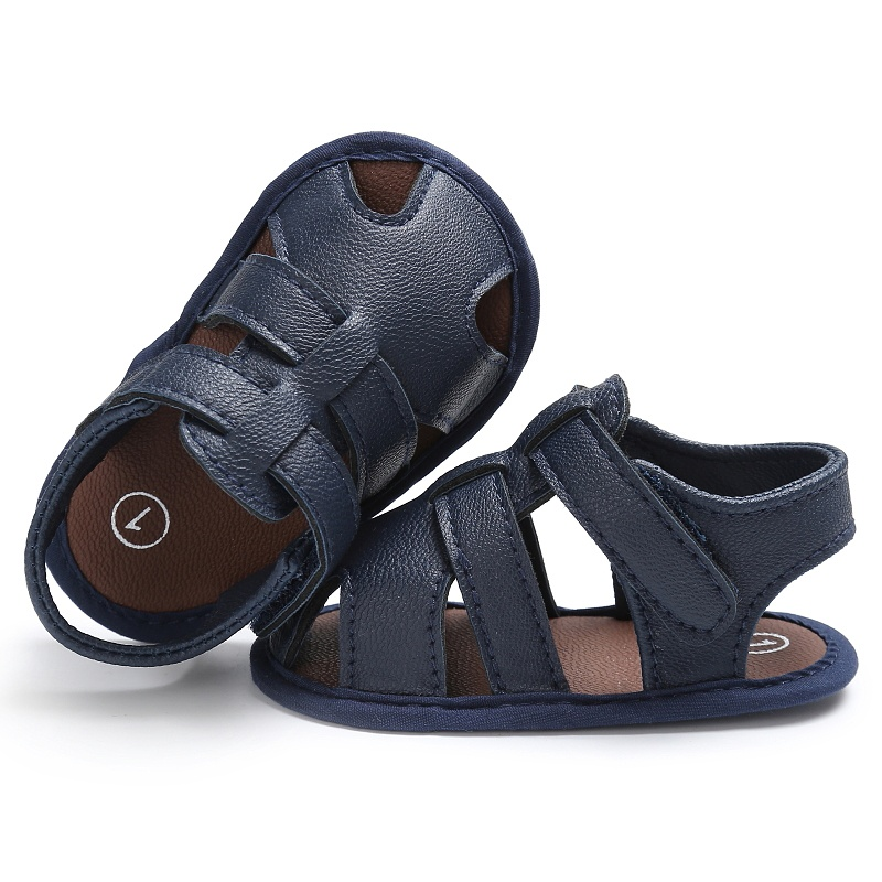 Kids-Soft-Soled-Leather-Casual-Shoes-Summer-Baby-Boy-Sandals-Prewalker-0-18M thumbnail 9
