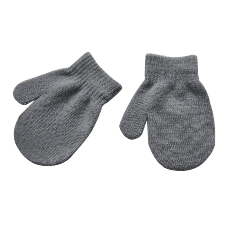 Children Baby Kid Gloves Snow Mitten Cartoon Knit Velvet ...
