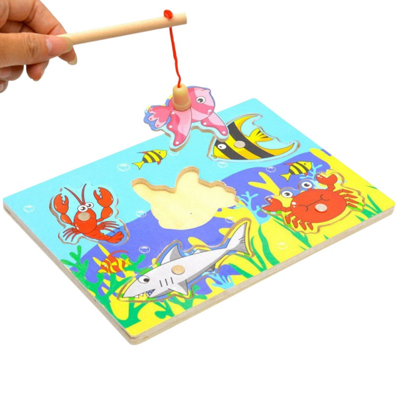 Toddler Toys Puzzle : Educational toys fishing d puzzle toy wooden magnetic for