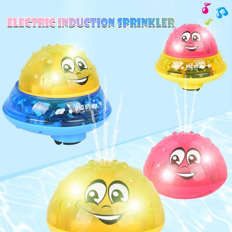 Children-Fun-Electric-Induction-Sprinkler-Water-Spray-Light-Baby-Bath-Toy-US thumbnail 2