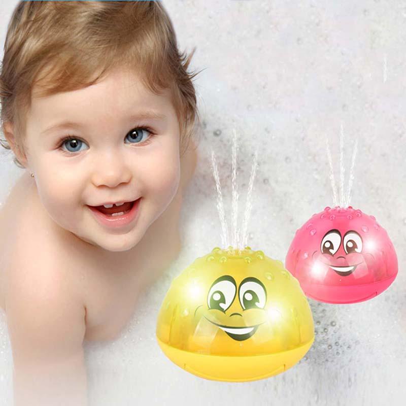Children-Fun-Electric-Induction-Sprinkler-Water-Spray-Light-Baby-Bath-Toy-US