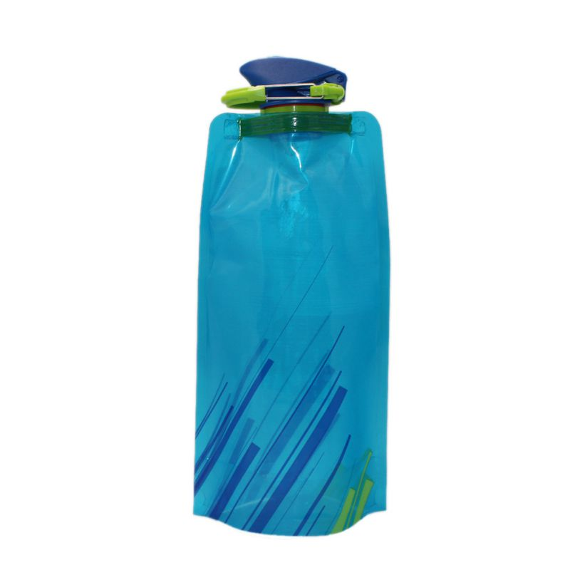 Portable Water Bottle : Ml portable collapsible folding drink water bottle