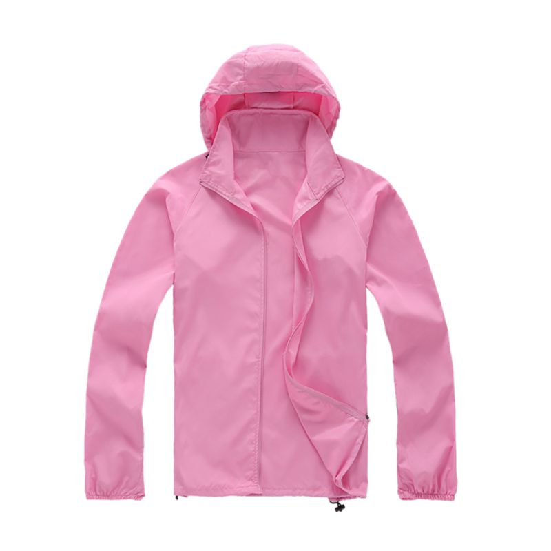 Outdoor Couple Men Women Waterproof Jacket Sunscreen Movement Thin Windbreaker | EBay