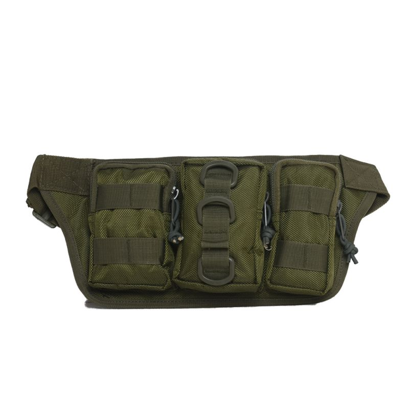 Outdoor tactical molle waist pack fanny phone pouch belt for Fishing waist pack