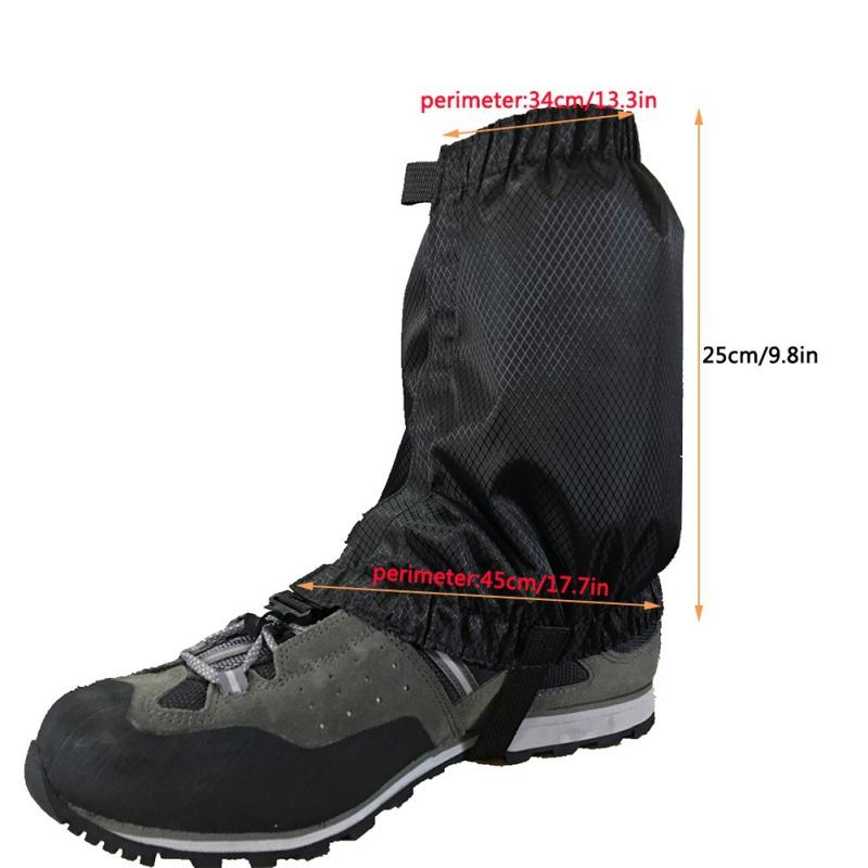 US-Outdoor-Sport-Waterproof-Climbing-Hiking-Cycling-Ski-Shoe-Leg-Gaiter-Cover thumbnail 21
