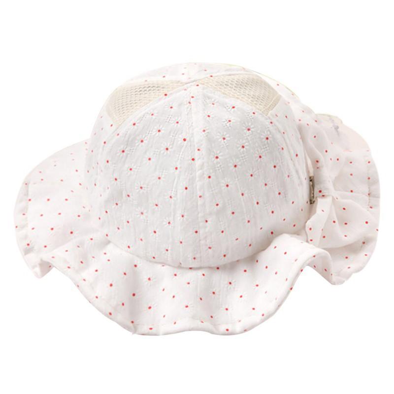 Baby-Infant-Girl-Flower-Bow-Hat-Toddler-Cotton-Summer-Outdoor-Sun-Cap-6-24M-Cute
