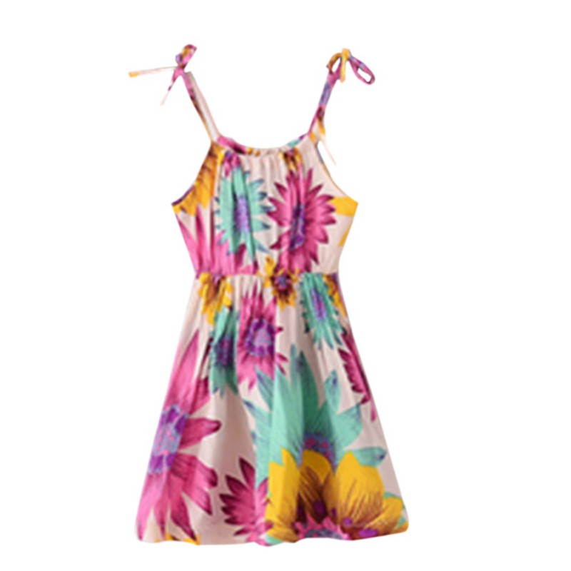 toddler kids girls flower dress summer outfits clothes