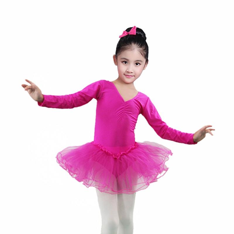 Baby Kid Girl Gymnastics Leotard Long Sleeve Ballet Dance