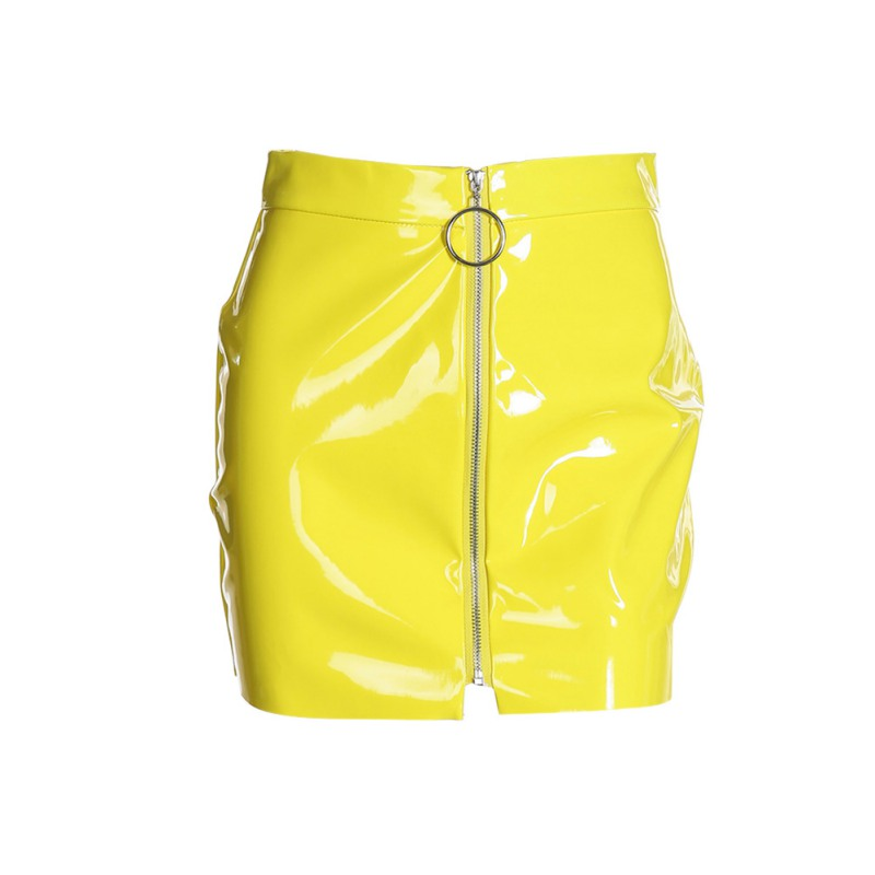 Women-Lady-Sexy-PU-Leather-PVC-High-Waisted-Wet-Look-Party-Bodycon-Pencil-Skirt