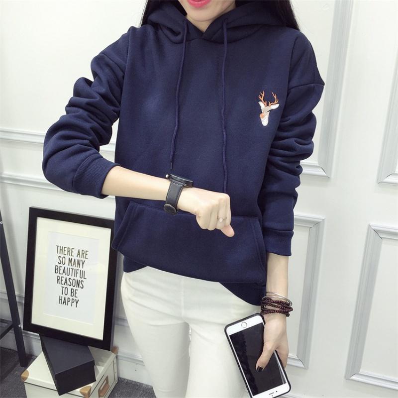 Womens Jumper Long Sleeve Hoodie Hooded Pullover Tops Sweatshirt Blouse Coat