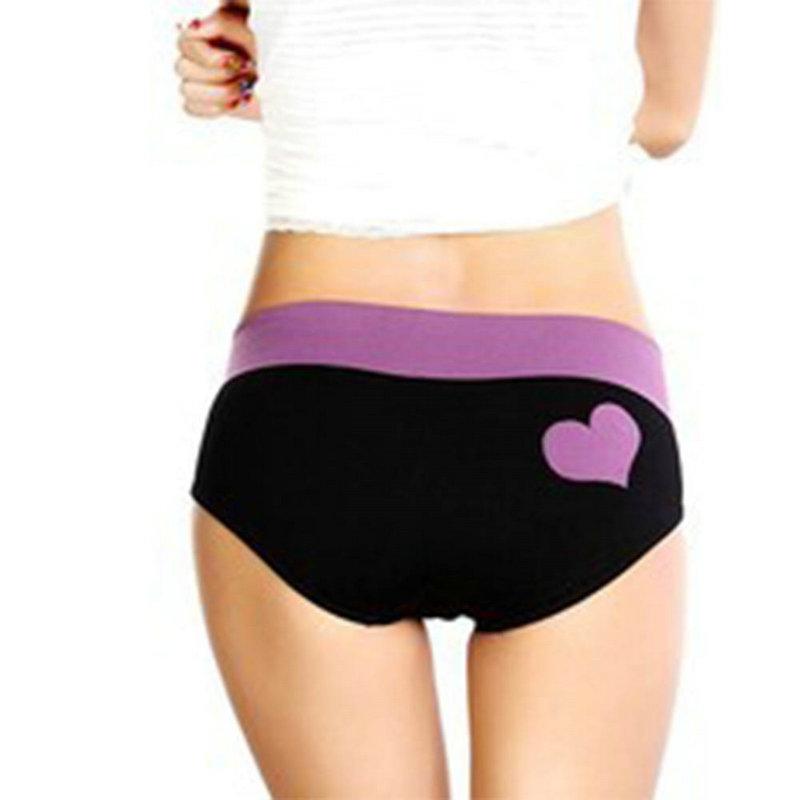 Vogue Women's Heart Pattern Seamless Briefs Panties Knickers Lingerie Underwear
