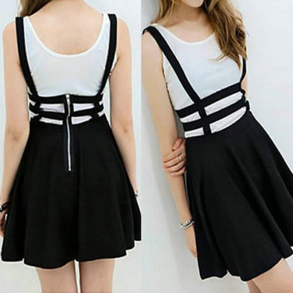 Suspender Mini Dress