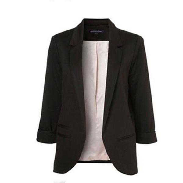 Candy Colors Women Slim Suit Blazer Jacket Coat Outwear ...