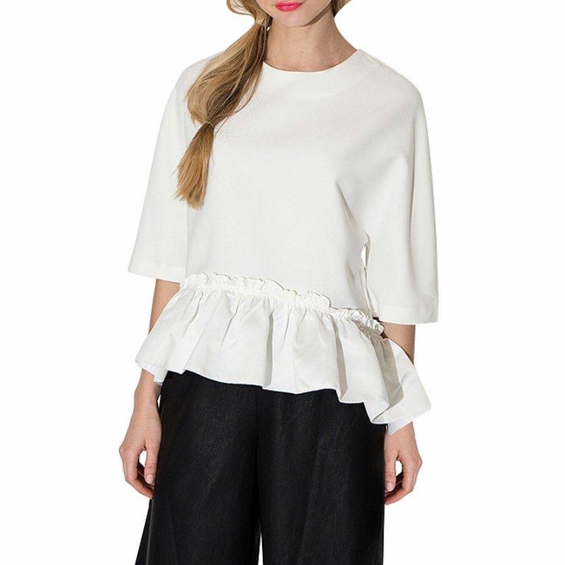 Summer Women Girl Ruffled 3/4 Sleeve Tee Shirt Casual Loose Blouse T-Shirt Tops
