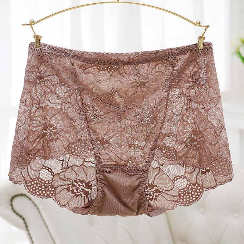 Ladies Women Lace High Waist Buttock Soft Silk Briefs Sexy Panties ...