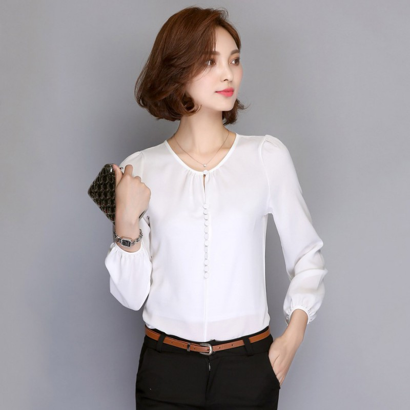 Office Blouse, V Neck Blouse, Office Ladies, Chiffon Shirt, Blouse Styles, Office Outfits, Fashion Blouses, Ladies Tops, Female Clothing Find this Pin and more on .