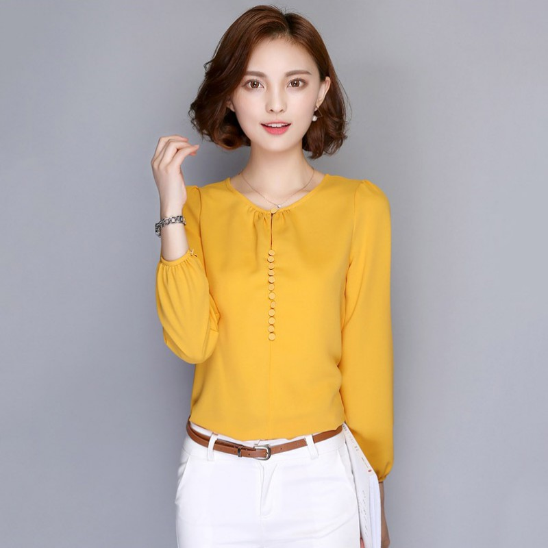 Women Loose Long Sleeve On Down Blouse Ol