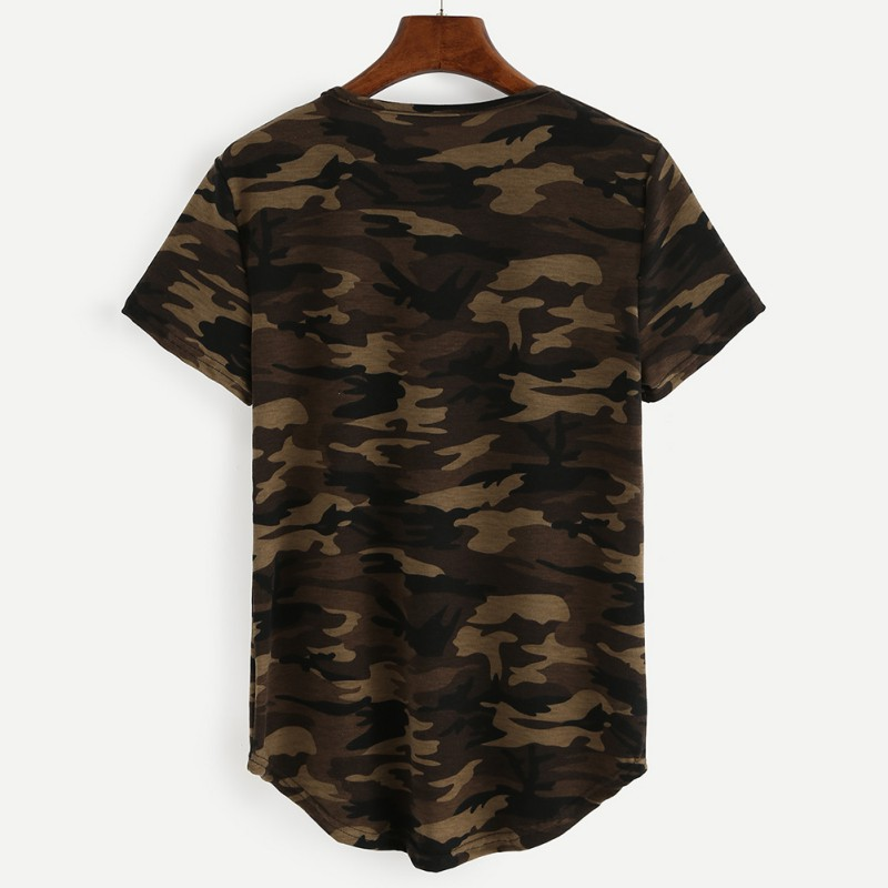 Womens camouflage printed t shirts army short sleeve camo for Camouflage t shirt printing