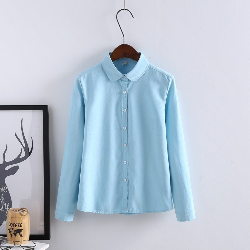 Womens button down lapel turn down collar v neck casual for V neck button up shirt