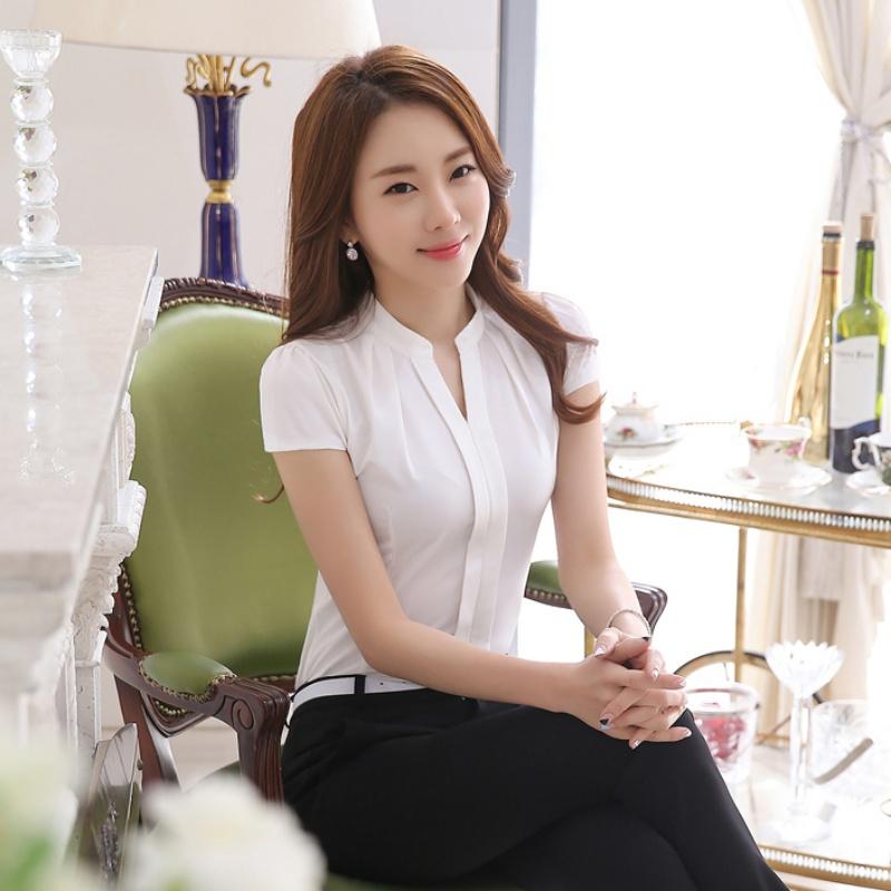 Office Uniform OL Work Wear Women Ladies Formal Cotton ...