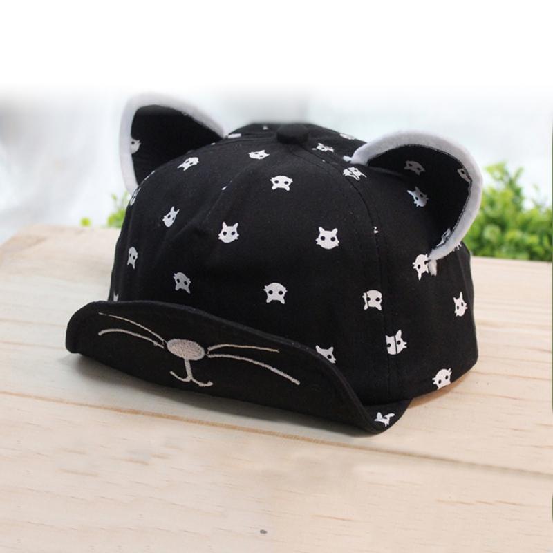 infant baby boys cat ear baseball cap snapback