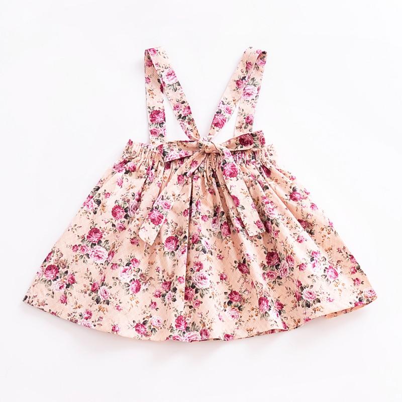 Princess Newborn Baby Kids Girls Floral Dress Suspender Skirts Party ...