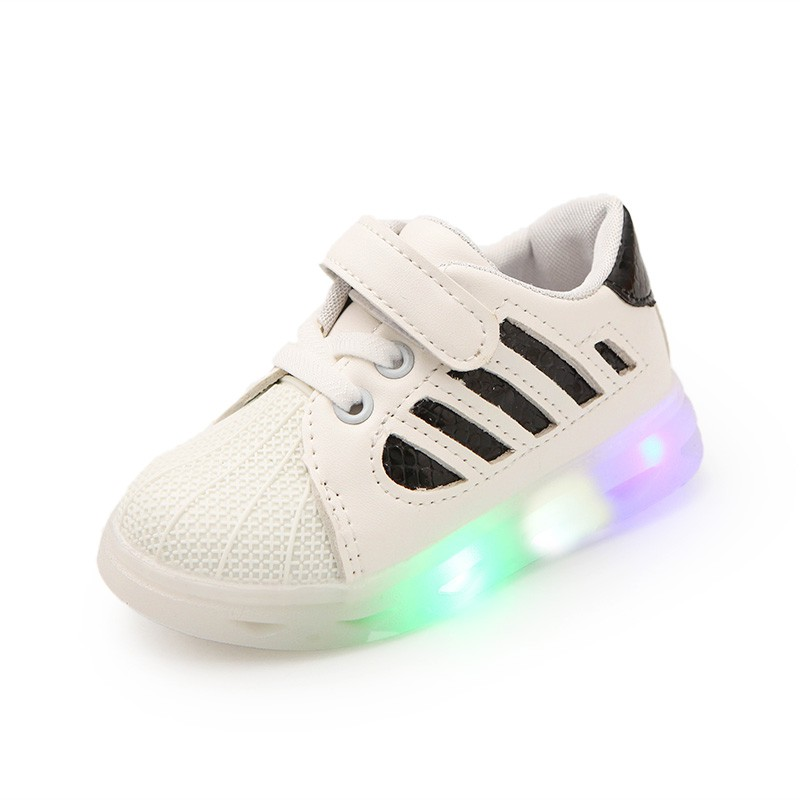 Boys-Girls-Kids-LED-Shoes-Light-Up-Luminous-Children-Trainers-Sport-Sneakers-NEW