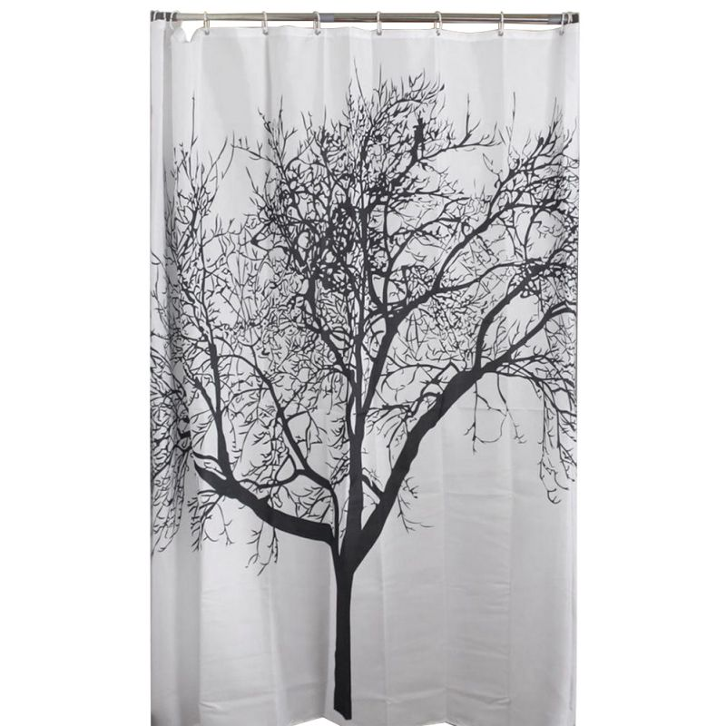 Modern Tree Pattern Shower Curtain Bathrrom Drape With