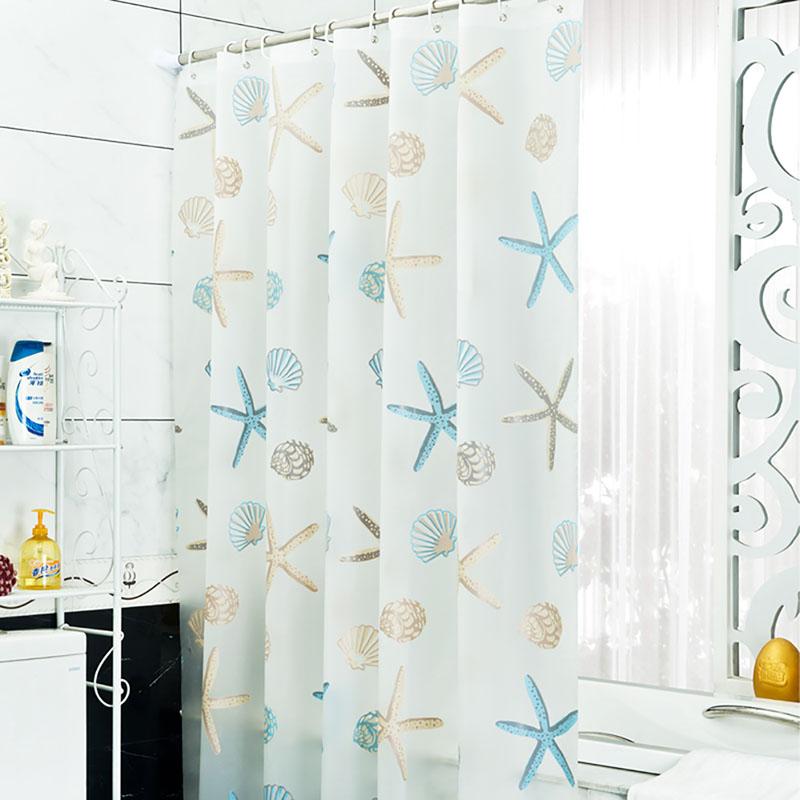 Shower Bathroom Curtain Fabric Drapes Panel 12 Hook Ring Mildew Splash Resistant Ebay
