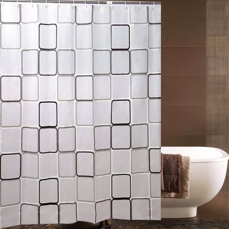 Waterproof Shower Curtain Modern Bathroom Liners Peva W Grommets Plastic 12hooks Ebay
