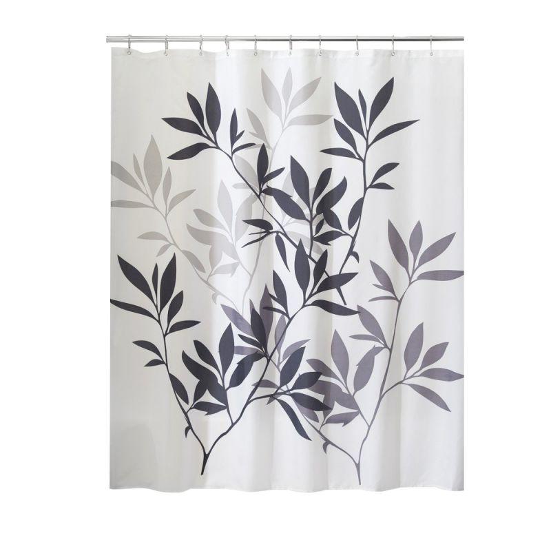 Modern Waterproof Bathroom Shower Curtain 12 Hooks Long Curtain Water Repellent