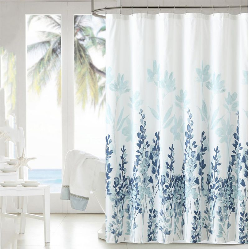 Bathroom Waterproof Fabric Shower Curtain Set Belle