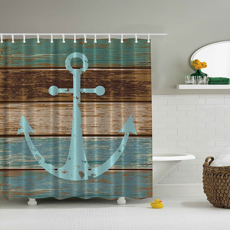 3D-Printed-Modern-Waterproof-Shower-Curtains-Fabric-Bathroom-Bath-Anchor-Map-Hot