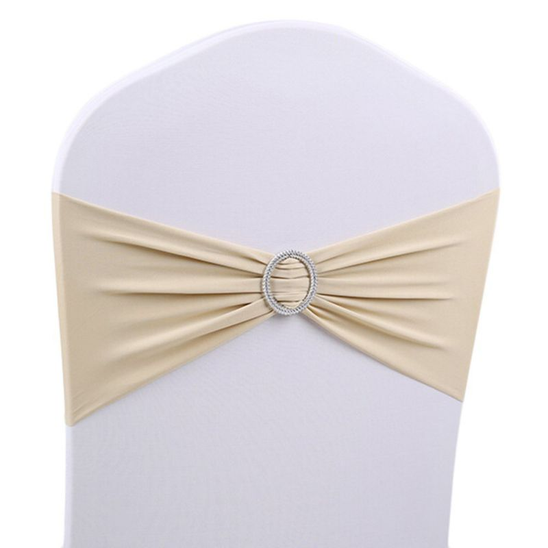 Spandex Stretch Wedding Chair Cover Sashes Bow Band Party ...